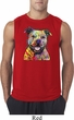 Beware of Pit Bulls They Will Steal Your Heart Mens Sleeveless Shirt