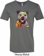 Beware of Pit Bulls They Will Steal Your Heart Mens V-Neck Shirt