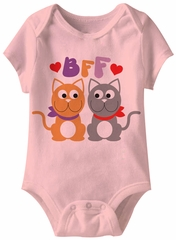 BFF Funny Baby Romper Pink Infant Babies Creeper