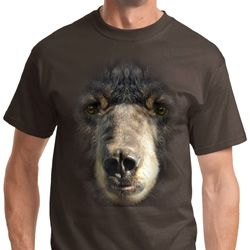 Big Black Bear Face Shirts