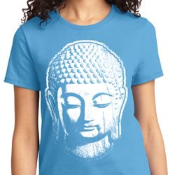 Big Buddha Head Ladies Yoga Shirts