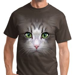 Big Cat Face Mens Shirts