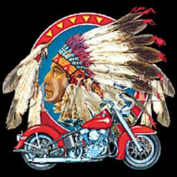 Big Chief Indian Biker Tee Shirt