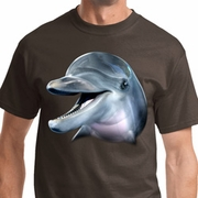 Big Dolphin Face Mens Shirts