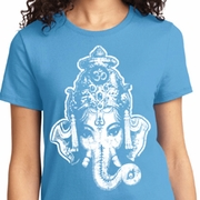BIG Ganesha Head Ladies Yoga Shirts