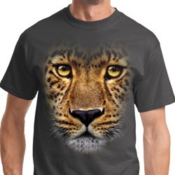 Big Leopard Face Mens Shirts