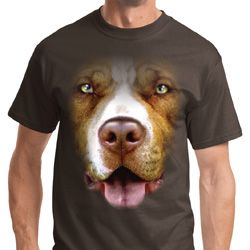 Big Pit Bull Face Shirts
