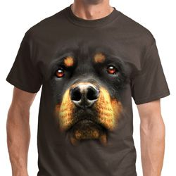 Big Rottweiler Face Shirts
