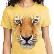 Big Tiger Face Ladies Shirts