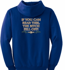 Biker Hoodie Hooded Sweatshirt The Bitch Fell Off Royal Hoody