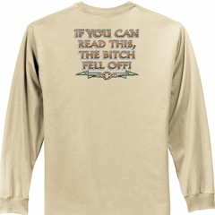 Biker Long Sleeve T-shirt The Bitch Fell Off Adult Sand Shirt