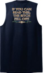 Biker Shooter T-Shirts The Bitch Fell Off Adult Muscle Shirts