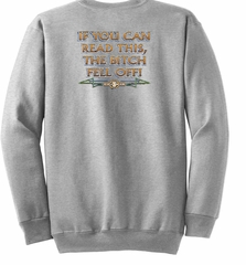 Biker Sweatshirt The Bitch Fell Off Adult Ash Sweat Shirt