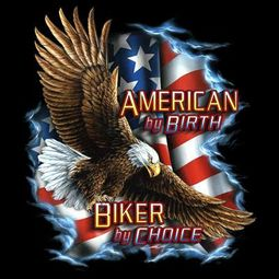 Biker T-shirt - American by Birth Patriotic Tee