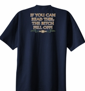 Biker T-shirts - If You Can Read This, The Bitch Fell Off Tee Shirts