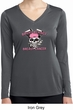 Bikers Against Breast Cancer Ladies Dry Wicking Long Sleeve Shirt