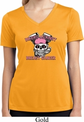 Bikers Against Breast Cancer Ladies Moisture Wicking V-neck Shirt
