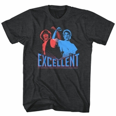 Bill And Ted Shirt 3D Excellent Charcoal Black Tee T-Shirt