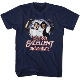 Bill And Ted Shirt Be Excellent Adventure Navy Tee T-Shirt