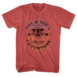 Bill And Ted Shirt Bill And Ted Bolt Red Heather Tee T-Shirt