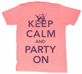 Bill And Ted Shirt Keep Calm Pink Heather Tee T-Shirt