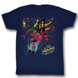 Bill And Ted Shirt Space Navy Blue Tee T-Shirt