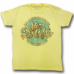 Bill And Ted Shirt Wyld Stallyns Yellow Tee T-Shirt