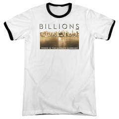 Billions Golden City White Ringer Shirt