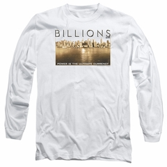 Billions Long Sleeve Shirt Golden City White Tee T-Shirt