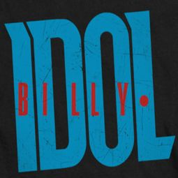 Billy Idol Logo Black Shirts