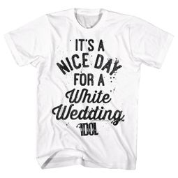 Billy Idol Shirt A Nice Day For a White Wedding White T-Shirt