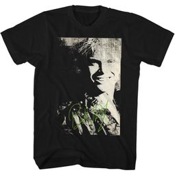 Billy Idol Shirt Autograph Black Tee T-Shirt