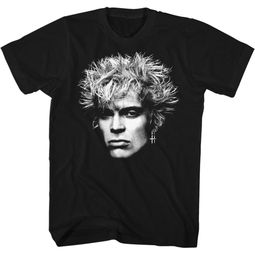 Billy Idol Shirt Big Head Black T-Shirt