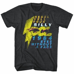 Billy Idol Shirt Eyes Without A Face Black Heather T-Shirt