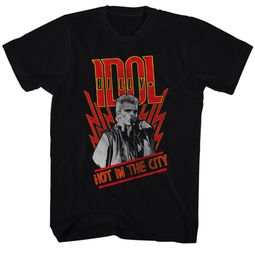Billy Idol Shirt Hot In The City Black Tee T-Shirt