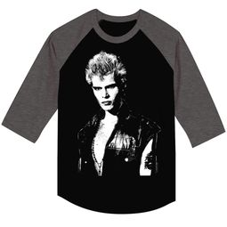 Billy Idol Shirt Raglan Portrait Charcoal/Grey Shirt