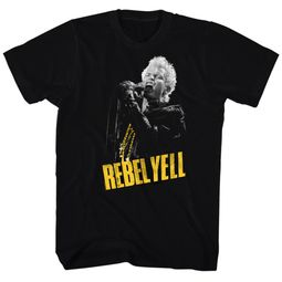 Billy Idol Shirt Rebel Yellow Black Tee T-Shirt
