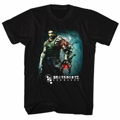 Bionic Commando Shirt Steam Arm Black T-Shirt