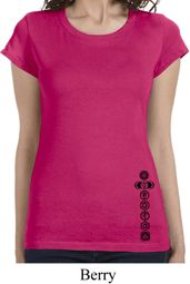Black 7 Chakras Bottom Print Ladies Yoga Shirts