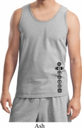 Black 7 Chakras Bottom Print Mens Yoga Shirts