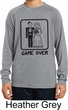 Black Game Over Kids Dry Wicking Long Sleeve Shirt