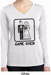 Black Game Over Ladies Dry Wicking Long Sleeve Shirt