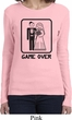 Black Game Over Ladies Long Sleeve Shirt