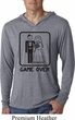 Black Game Over Lightweight Hoodie Shirt