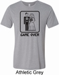 Black Game Over Mens Tri Blend Crewneck Shirt