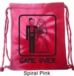 Black Game Over Tie Dye Bag