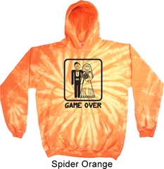 Black Game Over Tie Dye Hoodie