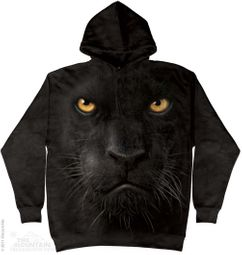Black Panther Face Hoodie Tie Dye Adult Hooded Sweat Shirt Hoody