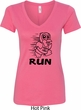 Black Penguin Power Run Ladies V-Neck Shirt