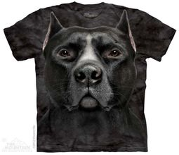 Black Pitbull Shirt Tie Dye Adult T-Shirt Tee